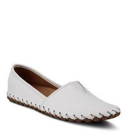 Spring Footwear Kathaleta Leather Woven Flats