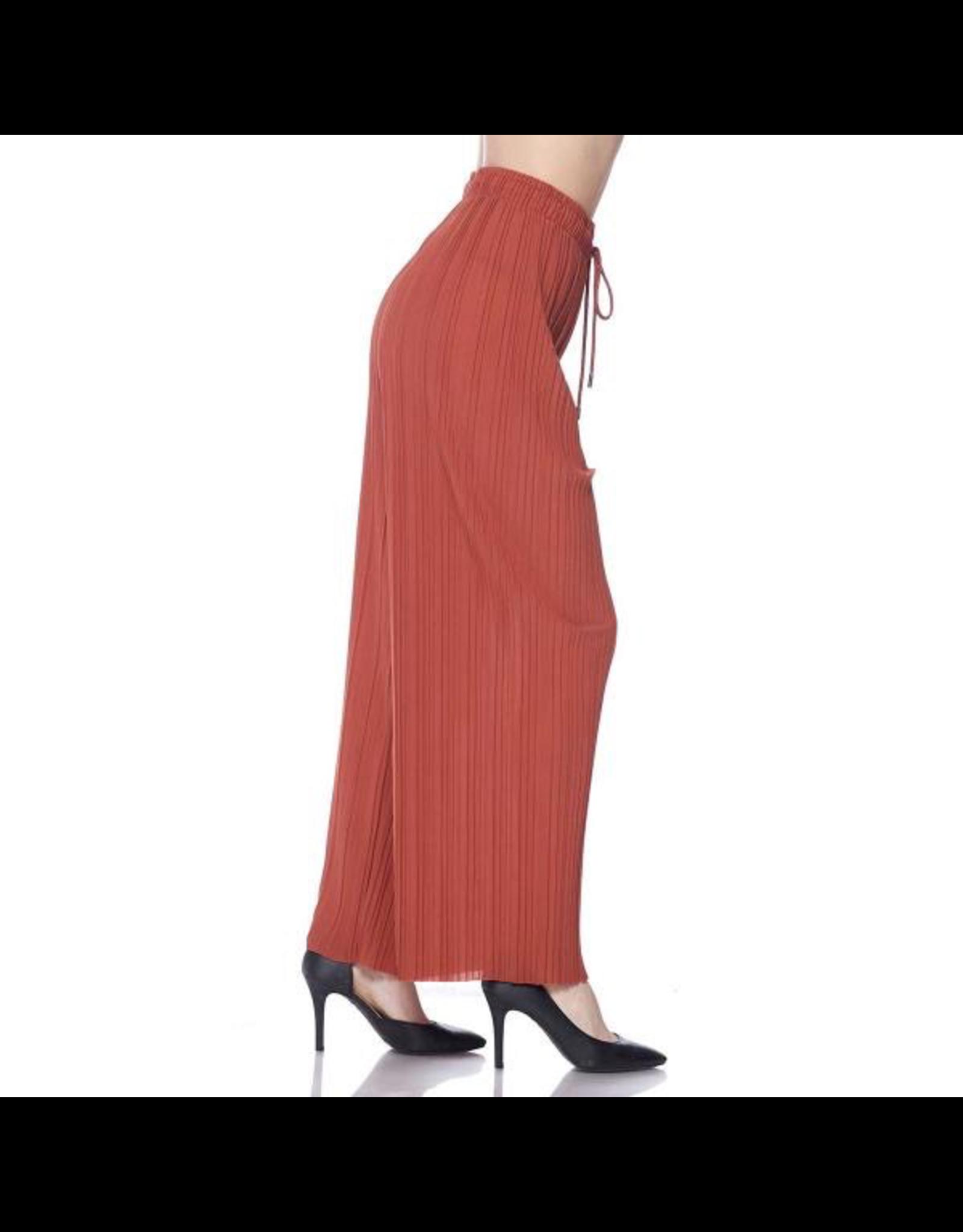 Magic Scarf Georgette Pleated Wide Leg Pant