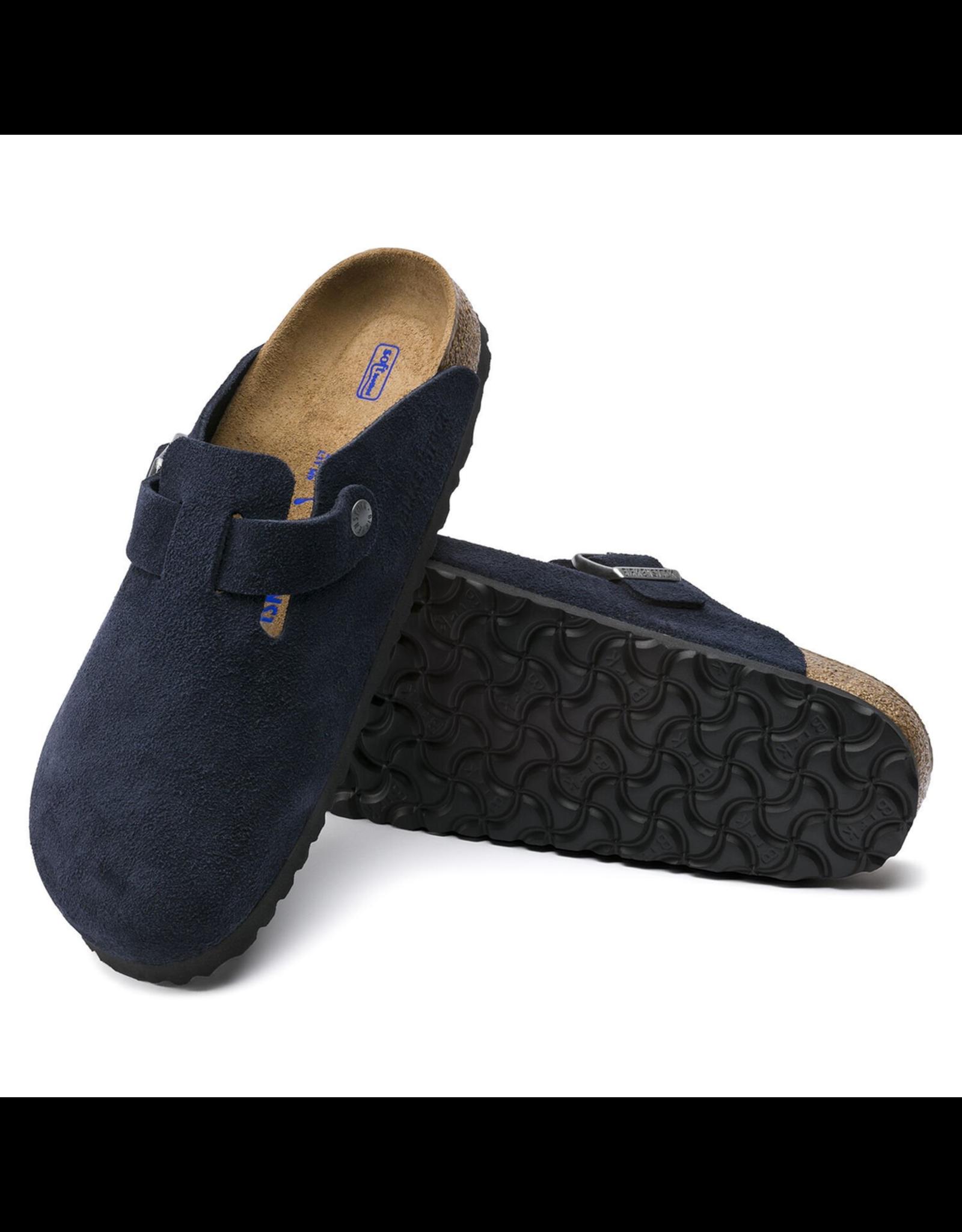 Birkenstock Boston Clog Suede Soft Footbed