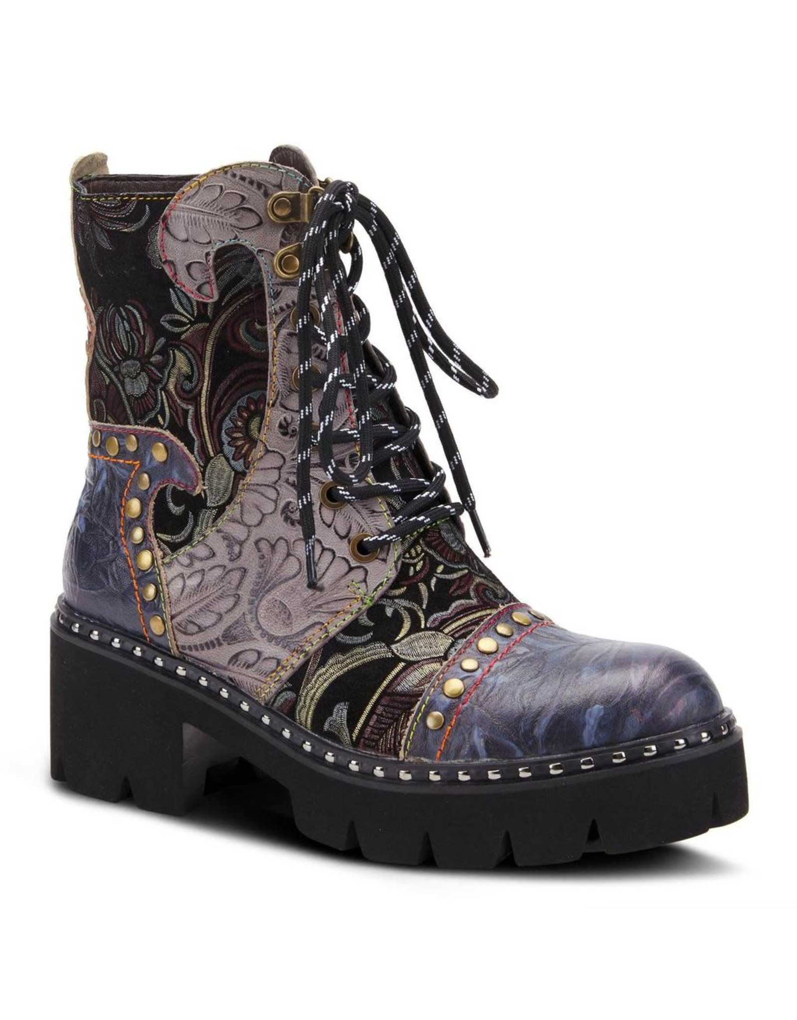 Spring Footwear Severe Tooled Leather Bootie