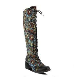 Spring Footwear Rarity Floral Jacquard Tall Boot
