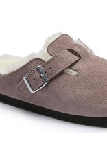 Birkenstock Boston Clog Suede with Shearling Fur Lining