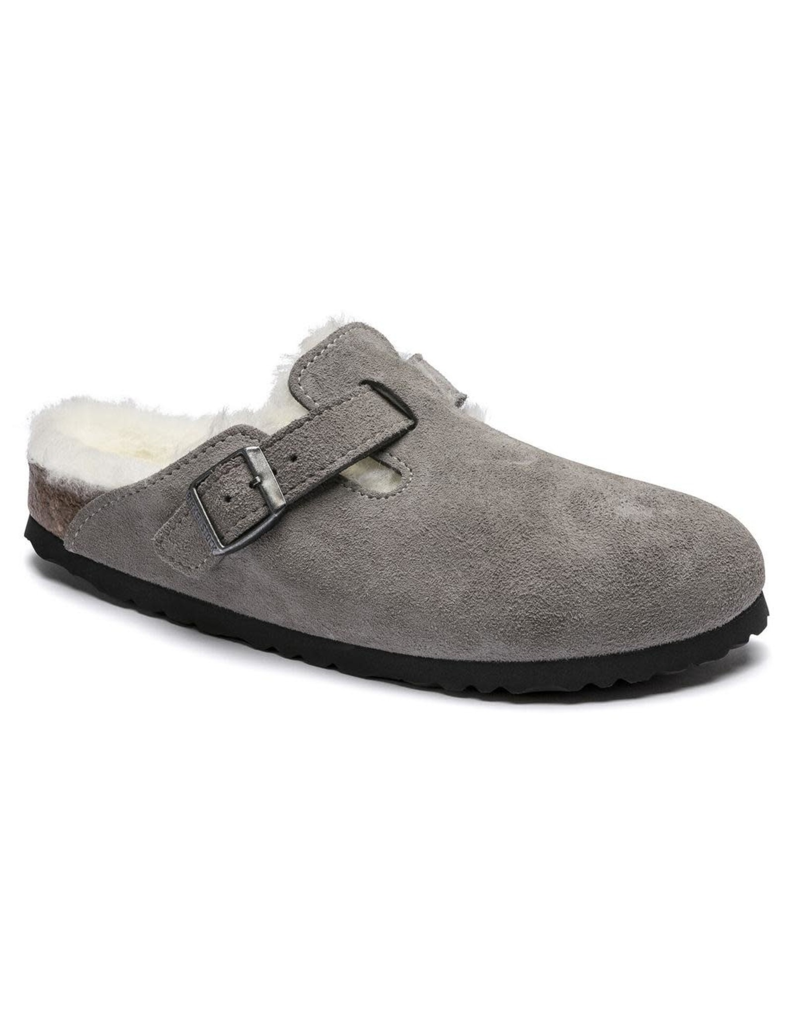 Birkenstock Boston Suede Clog with Shearling Fur Lining