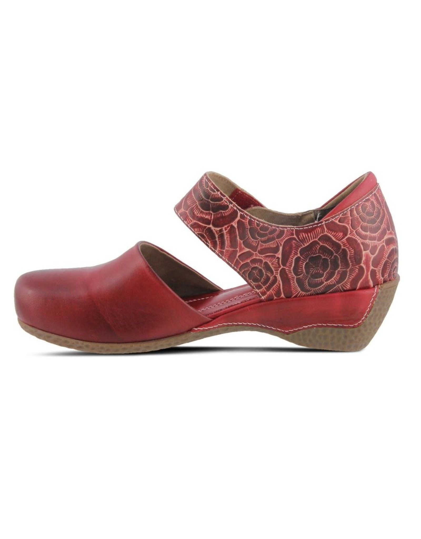 Spring Footwear Gloss Pansy Leather Sandal