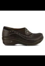 Spring Footwear Brown Leather Clog