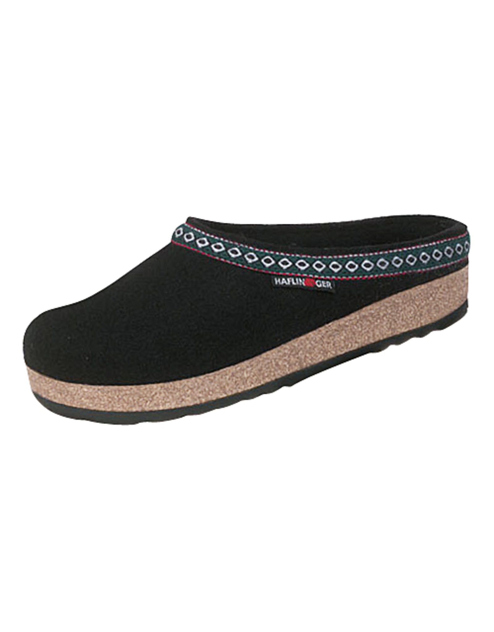 Haflinger Classic Grizzly Black Clog