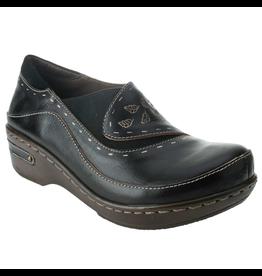 Spring Footwear Black Leather Clog