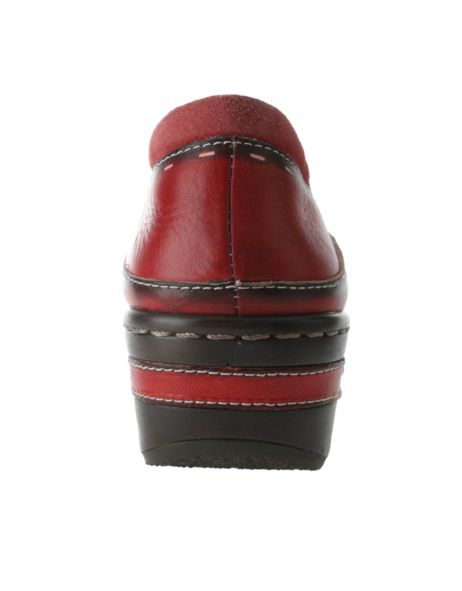 Spring Footwear Red Leather Clog