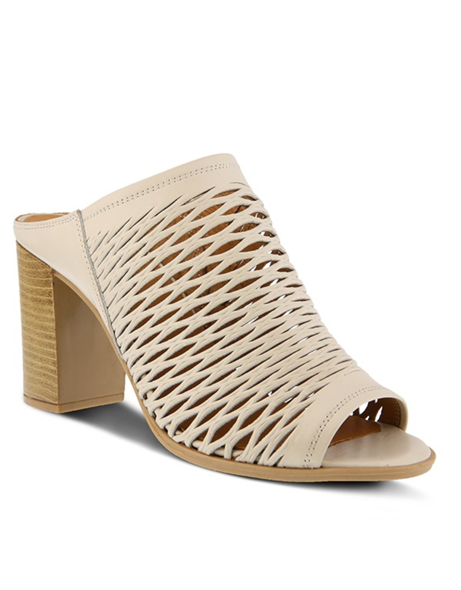 Spring Footwear Marinda Leather Slide Heel