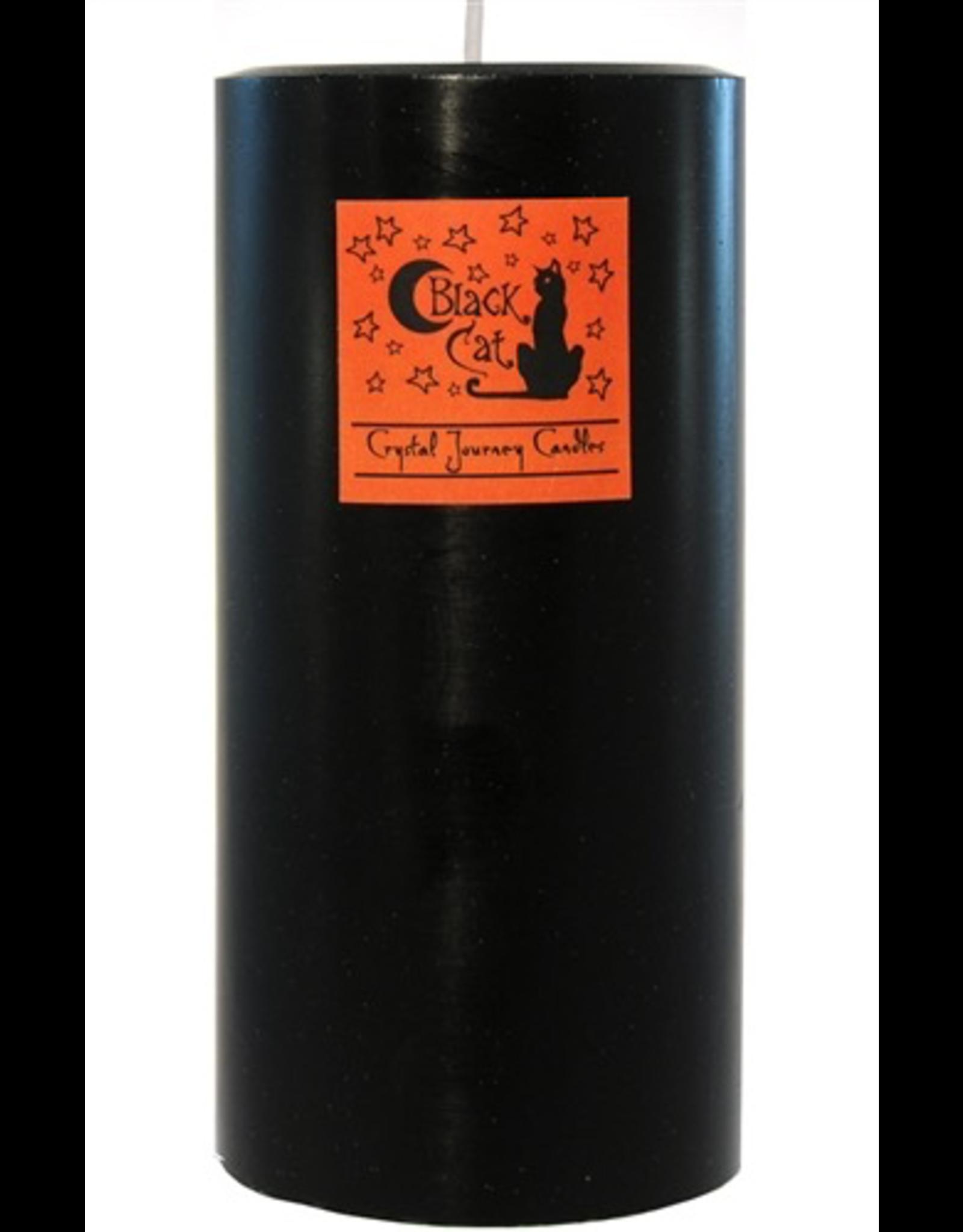 Crystal Journey Pillar 3x6 Candle-Black Cat