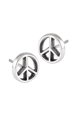 Welman S/S Peace Sign Post Earring