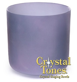 Crystal Tones 8 in Ocean Indium Crystal Tone Singing Bowl-(B-35)