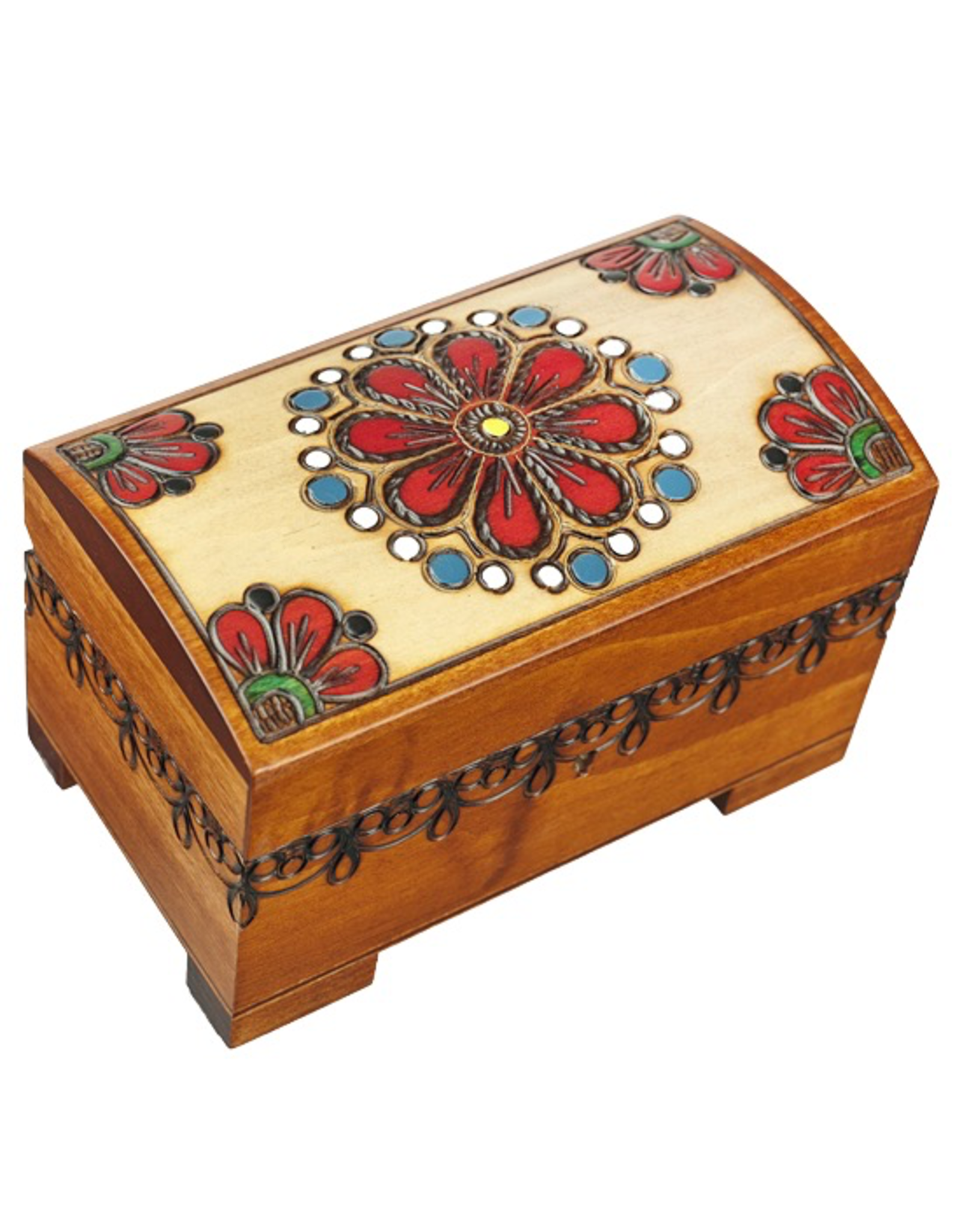 Enchanted Boxes Country Flowers Trunk Box