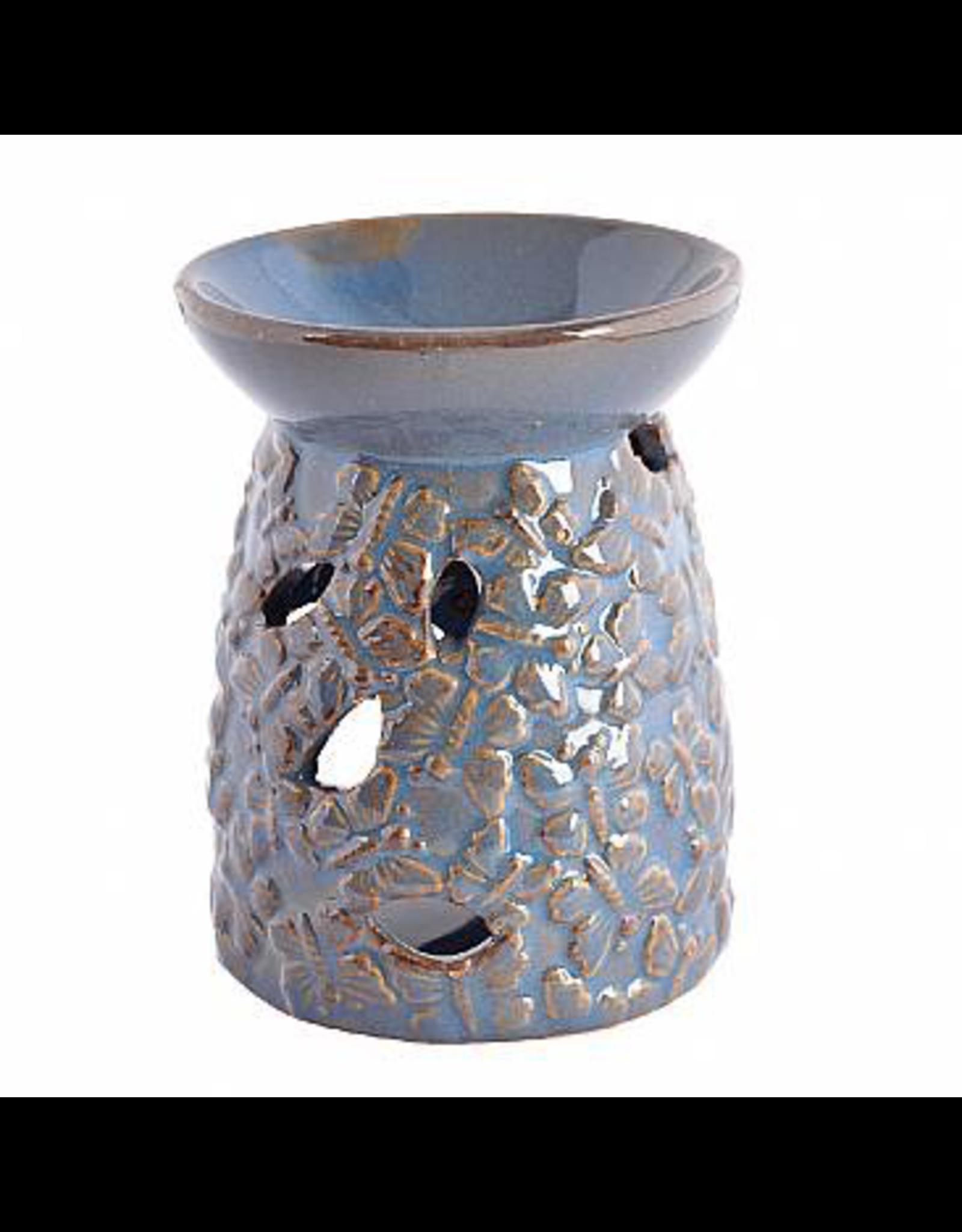 Benjamin Intl. Blue Butterfly Ceramic Holder