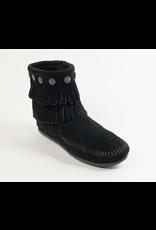 Minnetonka Double Fringe Side Zip Boot - COV18353