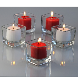 Candles4Less 2 inch Square Candle Holder