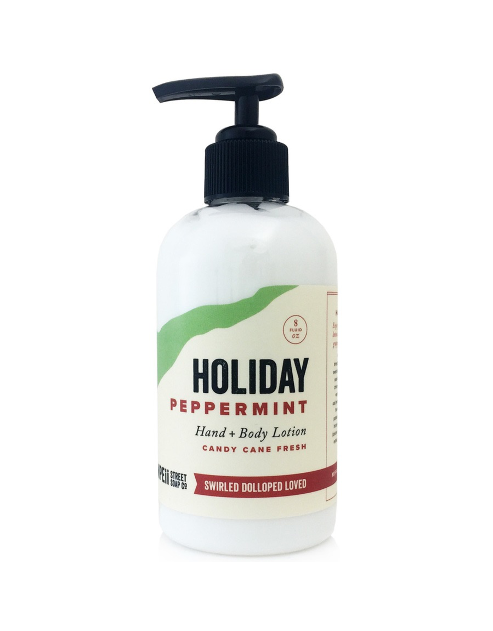 Pompeii Hand + Body Lotion Holiday Peppermint 8 oz.