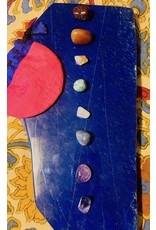 V-Rock Shop Chakra Set w/Pouch Polished and Natural Stones