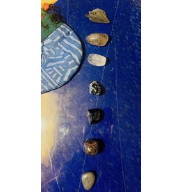 V-Rock Shop Protection Set w/Pouch Polished and Natural Stones
