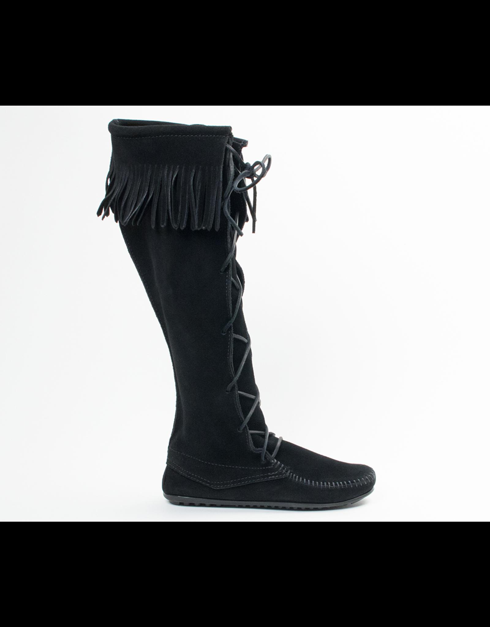 Minnetonka Front Lace Hard Sole Knee Hi Boot - COV513