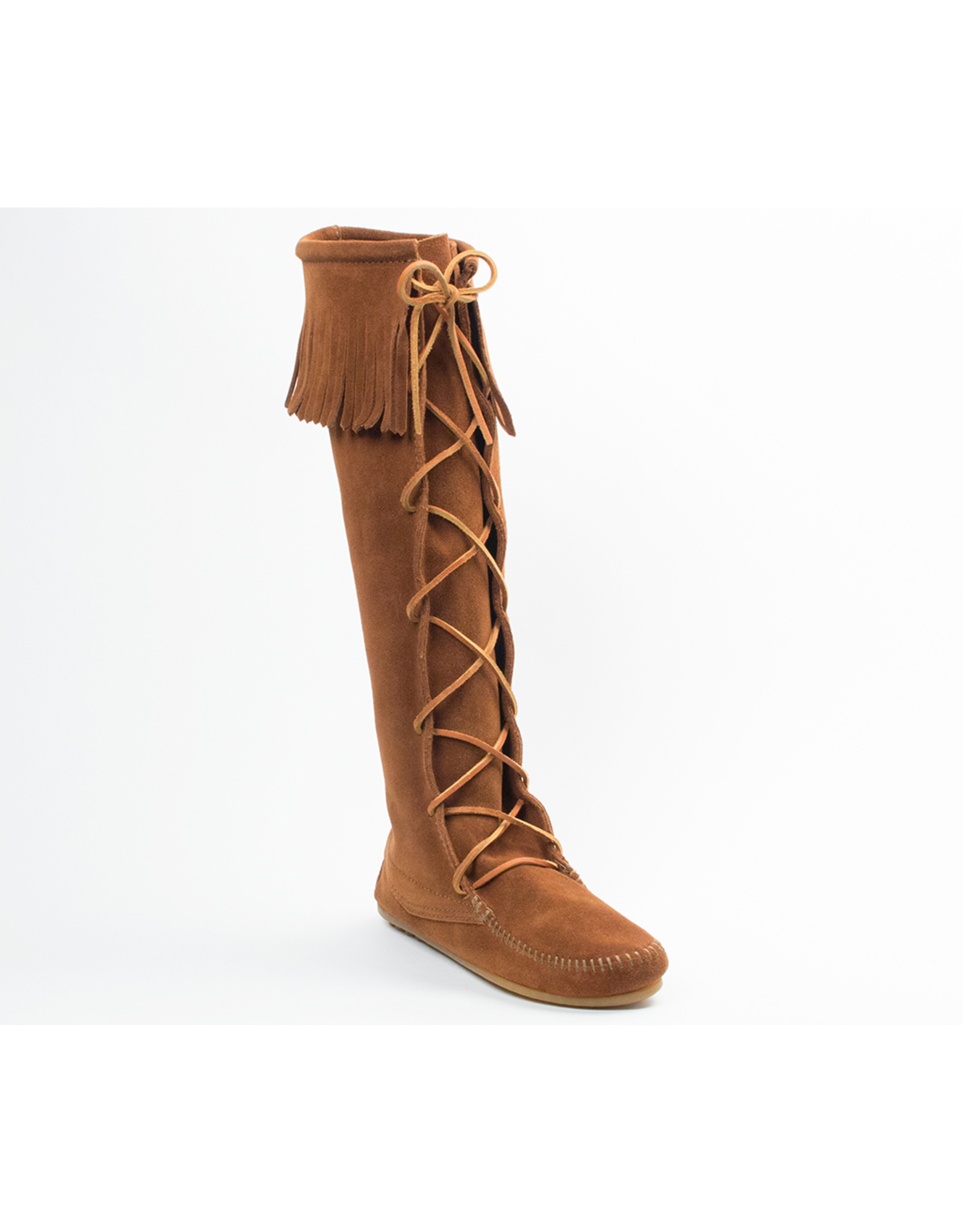 Minnetonka Front Lace Hard Sole Knee Hi Boot - COV520