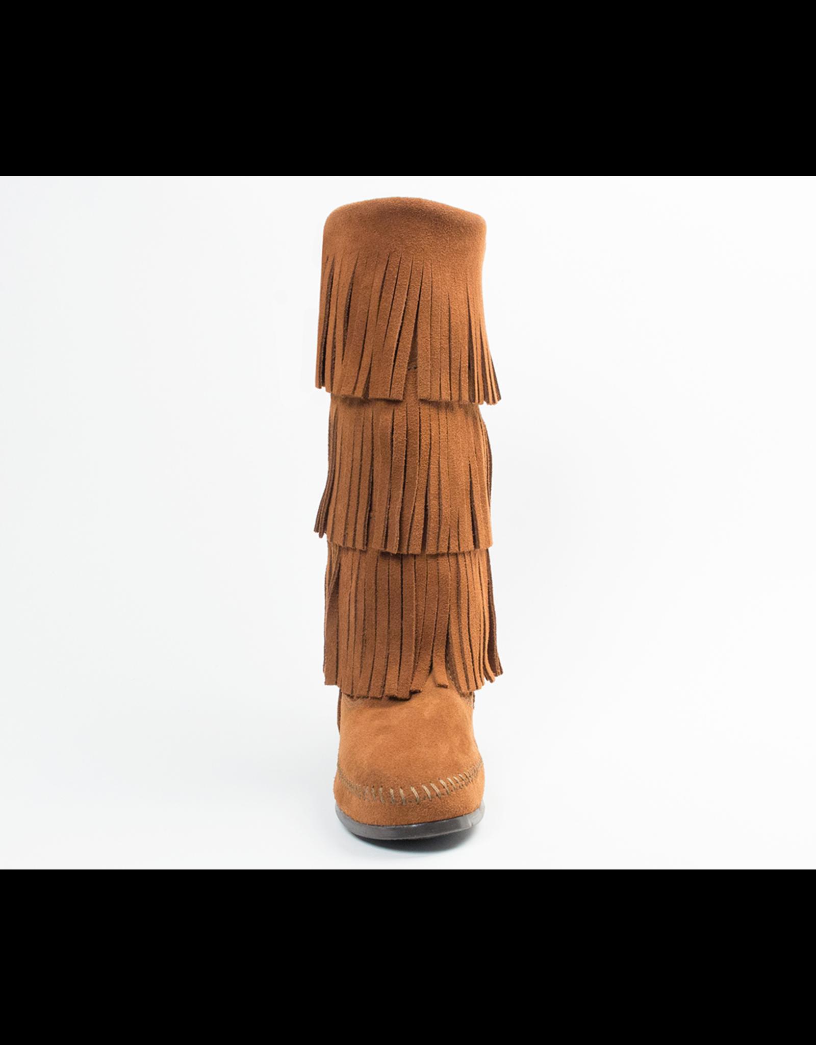 Minnetonka Calf Hi 3-Layer Fringe Boot