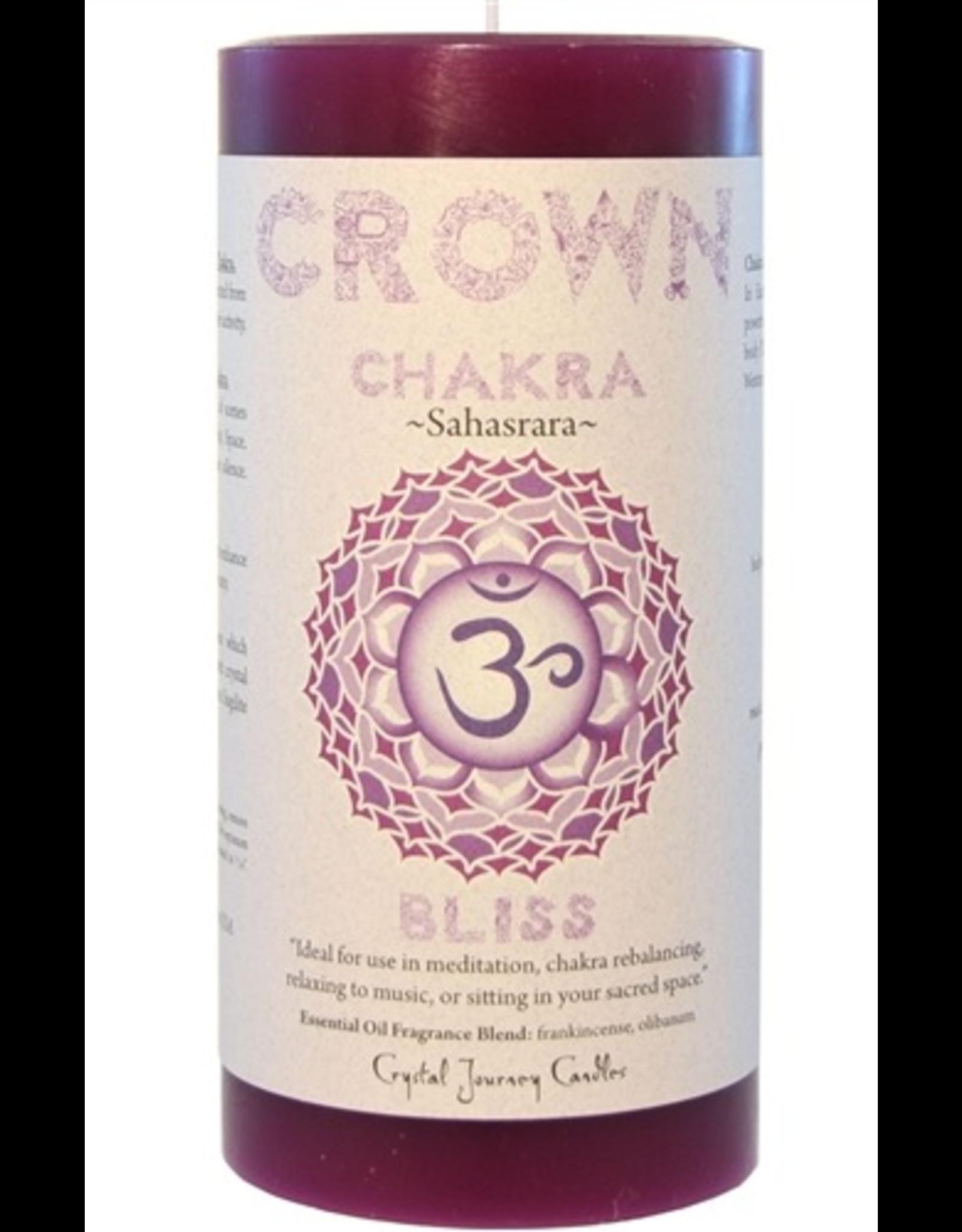 Crystal Journey Chakra Pillar 3x6 Candle-Crown