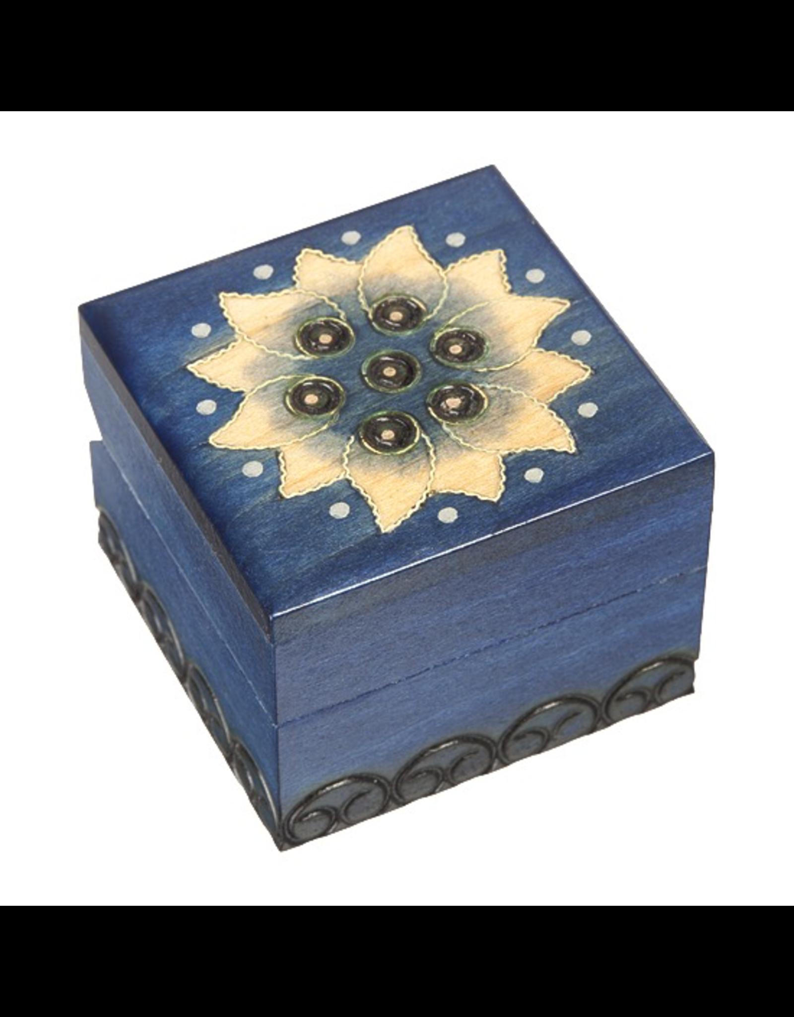 Enchanted Boxes Lotus Flower Small Wood Box