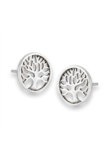 Welman S/S Tree of Life Stud Earrings