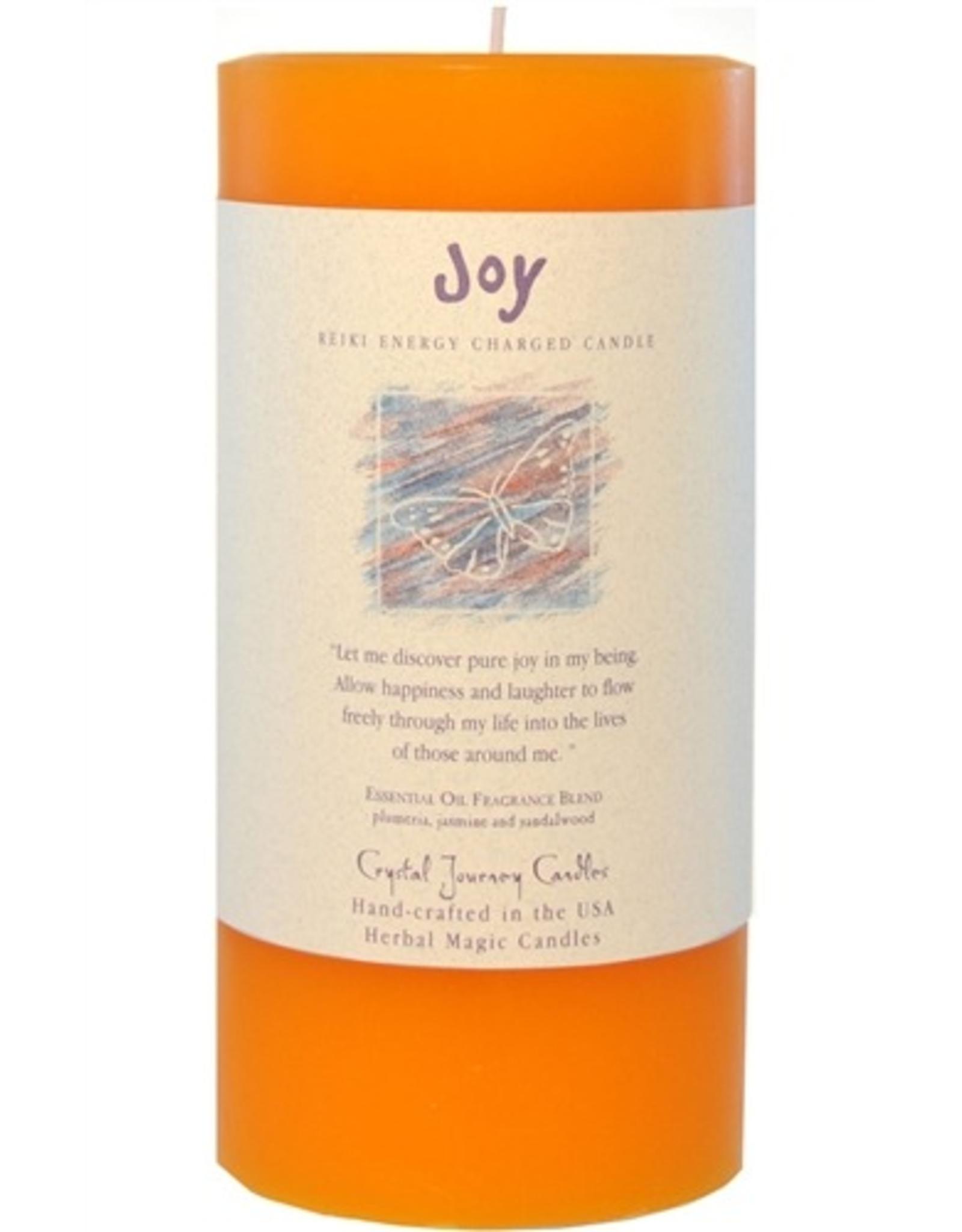 Crystal Journey Pillar 3x6 Candle-Joy