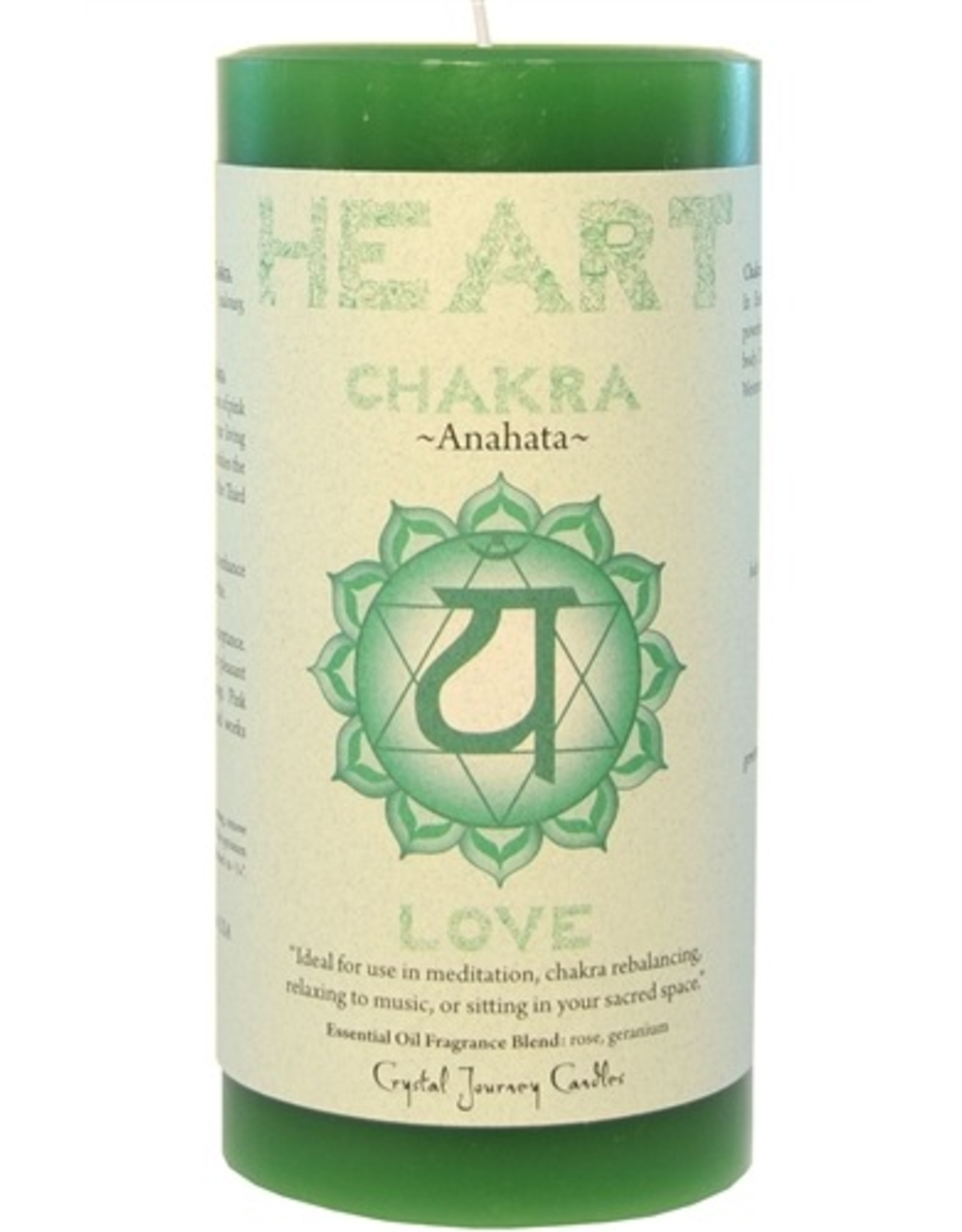 Crystal Journey Chakra Pillar 3x6 Candle-Heart