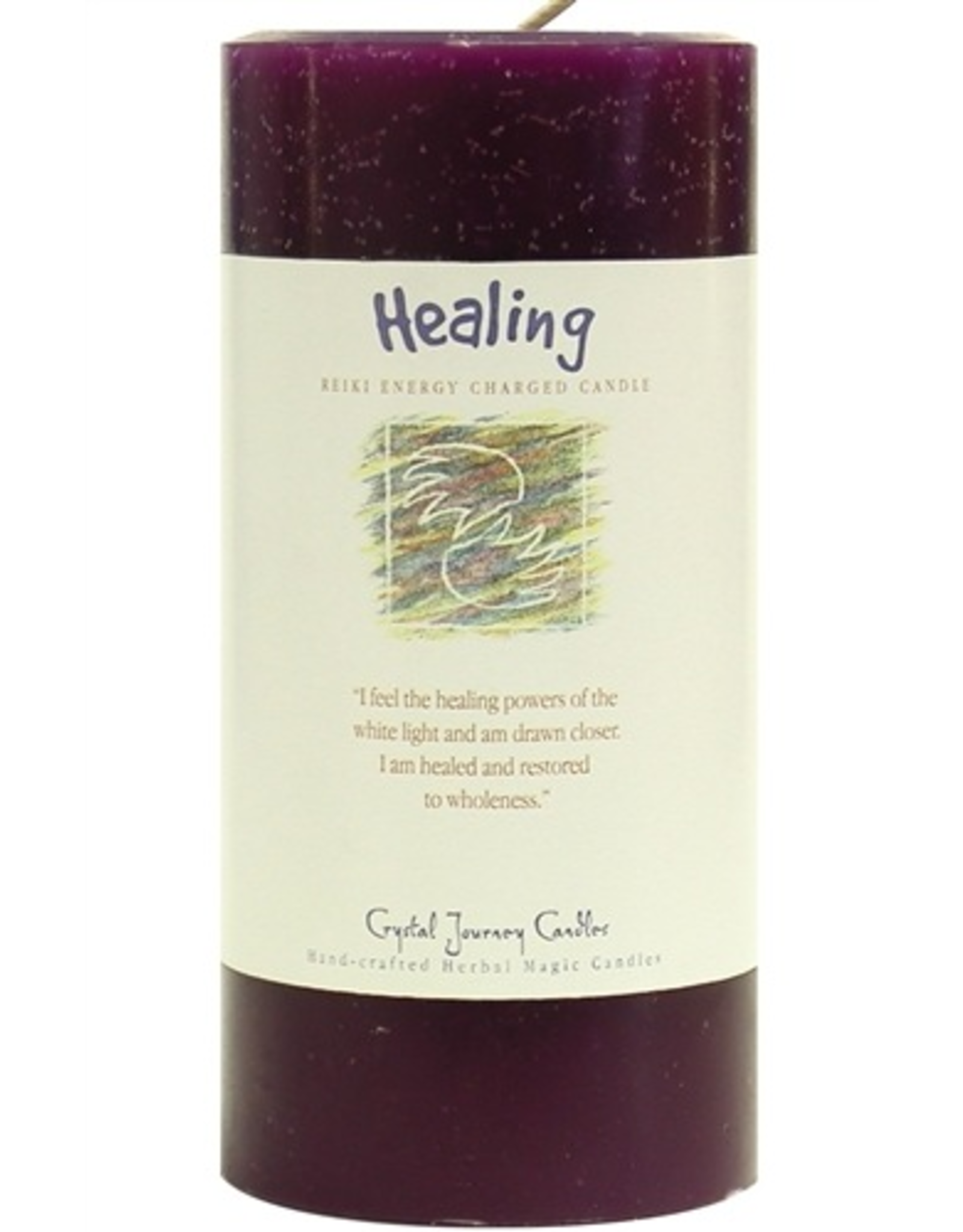Crystal Journey Pillar 3x6 Candle-Healing