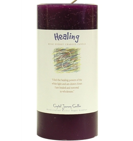 Crystal Journey Pillar 3x6 Candle-Healing