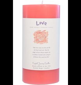 Crystal Journey Pillar 3x6 Candle-Love