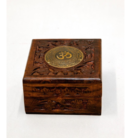India Arts Wood Box with Brass OM