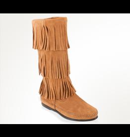 Minnetonka Calf Hi 3-Layer Fringe Boot - COV19073