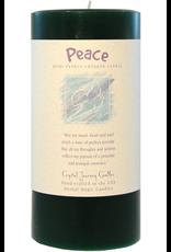 Crystal Journey Pillar 3x6 Candle-Peace