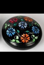 India Arts Soapstone Colored Flower Incense Burner