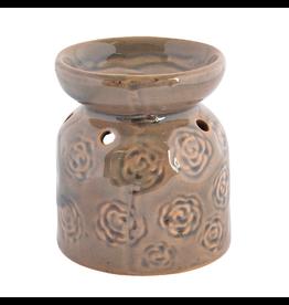 Benjamin Intl. Green Flower Ceramic Oil Burner