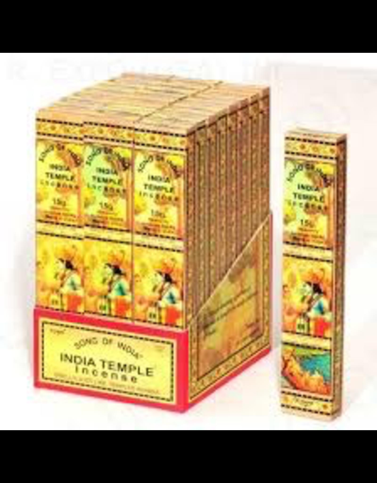 Benjamin Intl. India Temple Incense 15 Gram