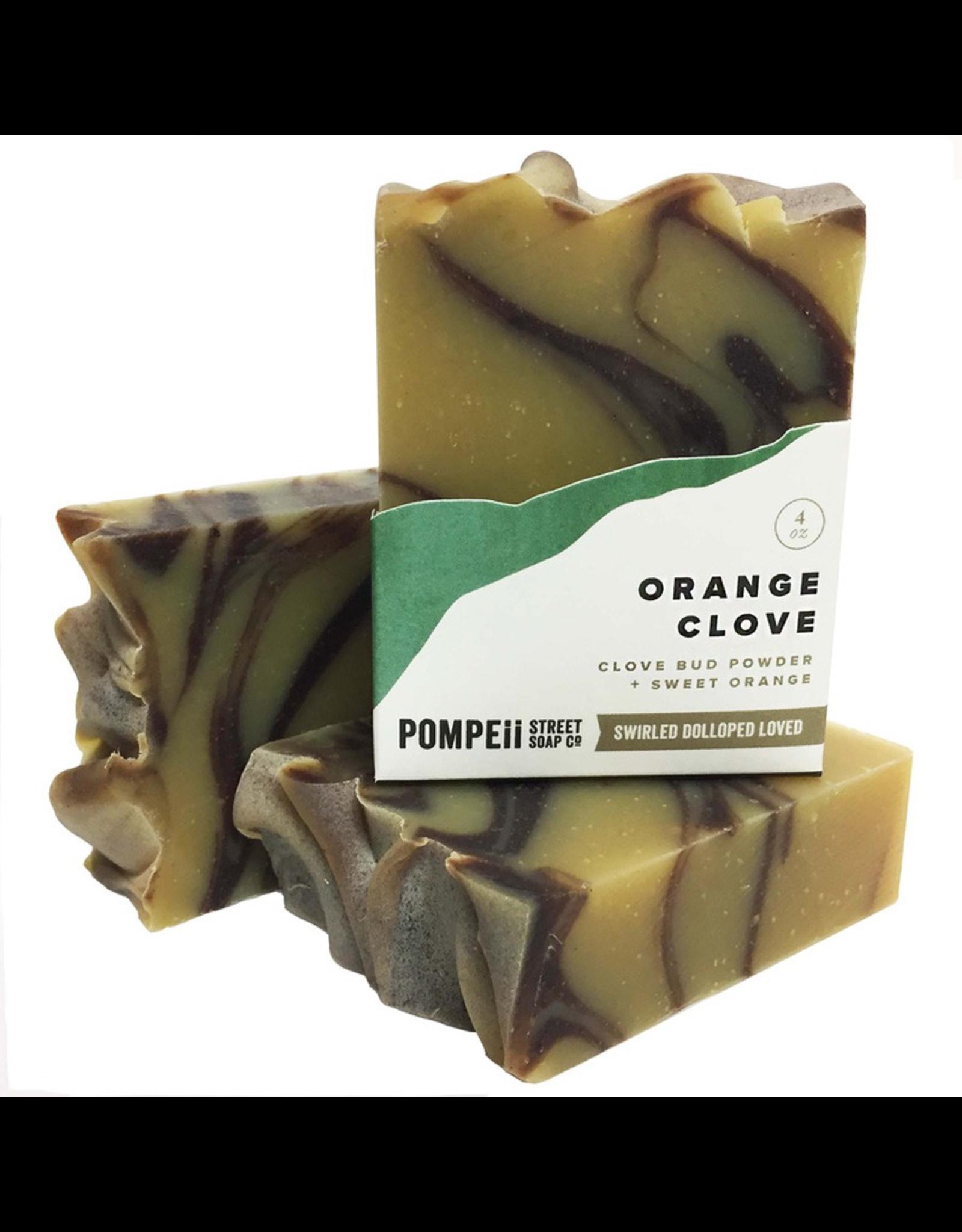 Pompeii Orange & Clove Soap 4 oz.
