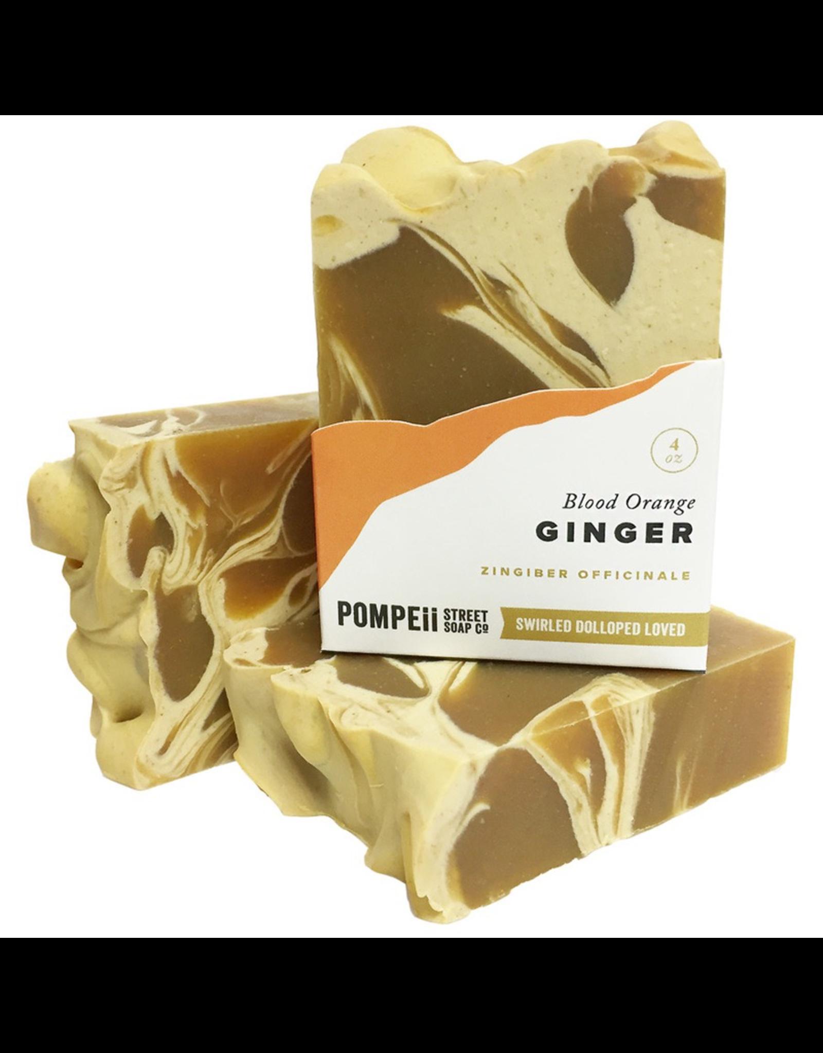 Pompeii Blood Orange and Ginger Soap 4 oz.