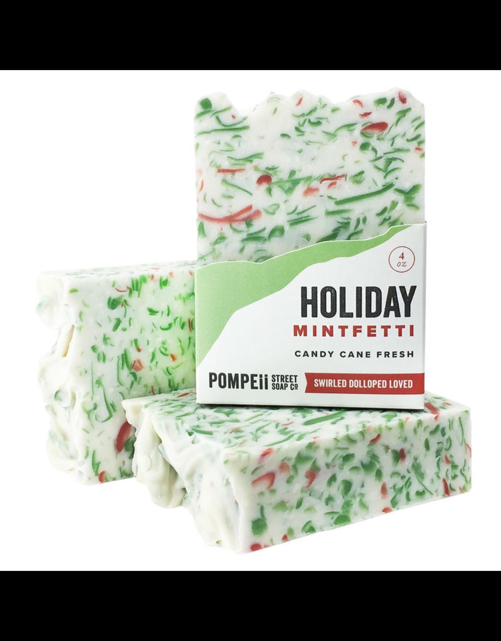 Pompeii Holiday Peppermint Soap 4 oz.