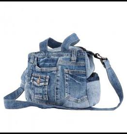 Benjamin Intl. Small Handle Recycled Jean Bag
