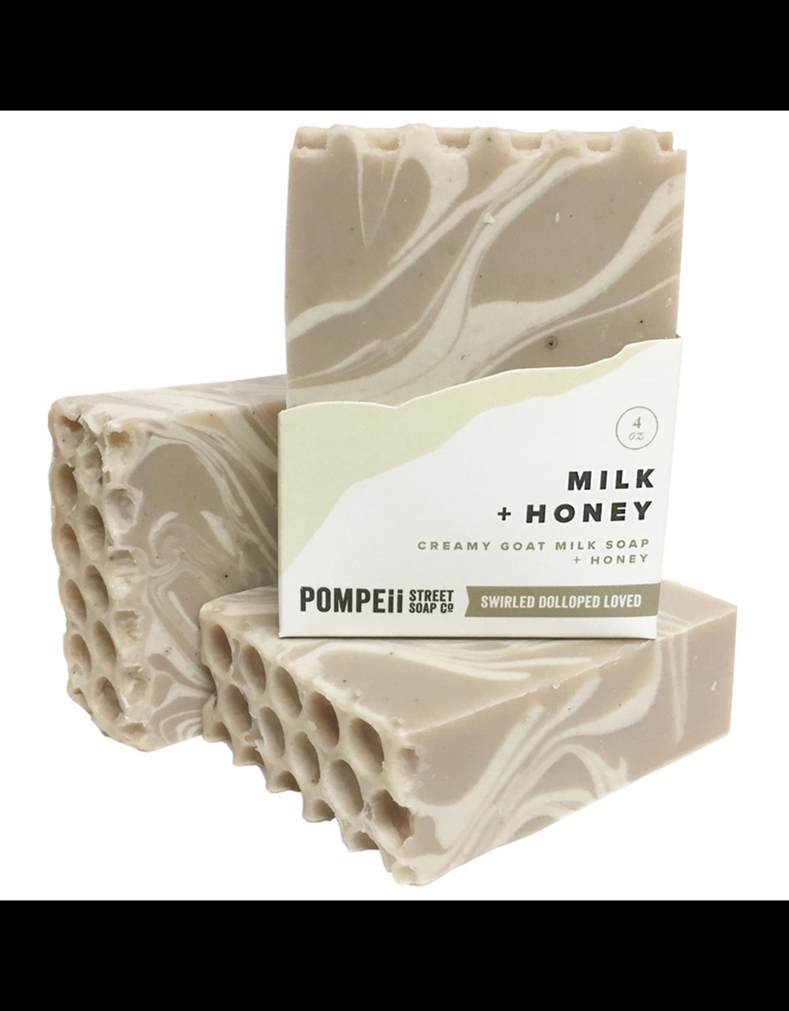 Pompeii Milk & Honey Soap 4 oz.