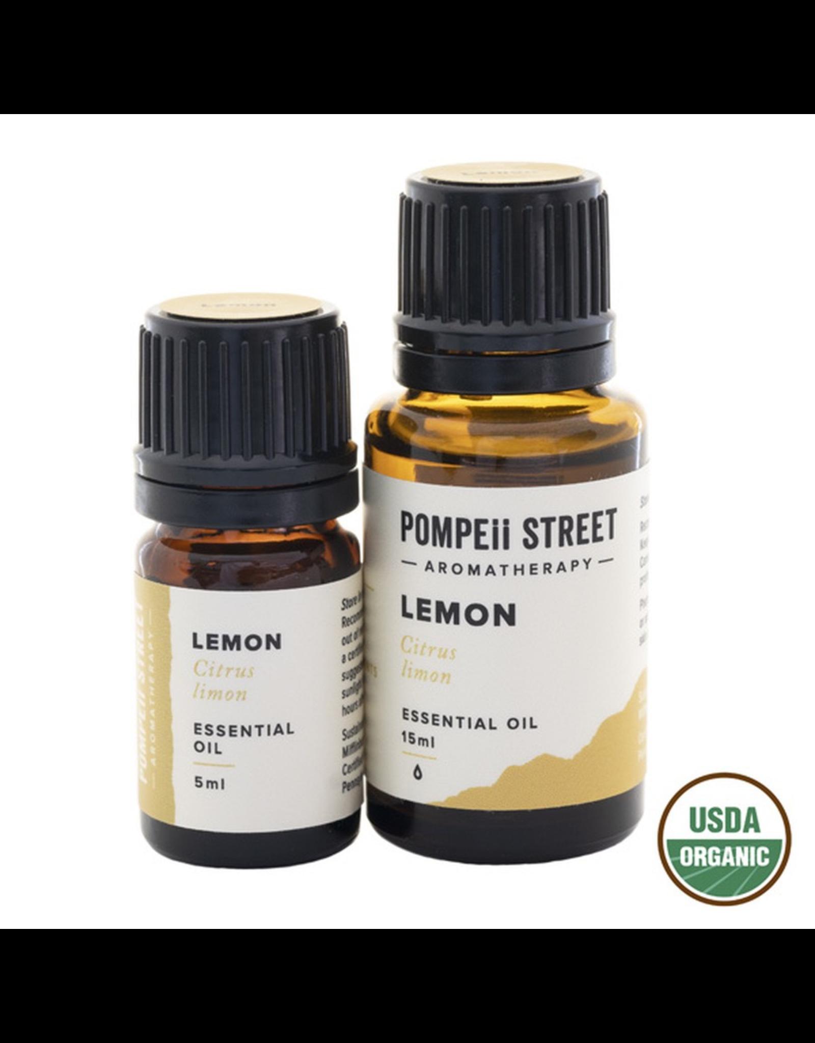 Pompeii Organic Lemon Essential Oil 15ml