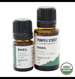 Pompeii Organic Basil, Sweet Essential Oil 15ml