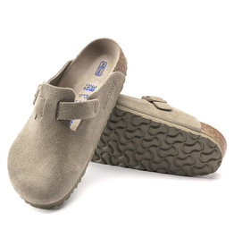 Birkenstock Boston Clog Suede Soft Footbed