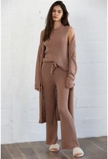By Together Knit Sweater Pant with Waist Tie