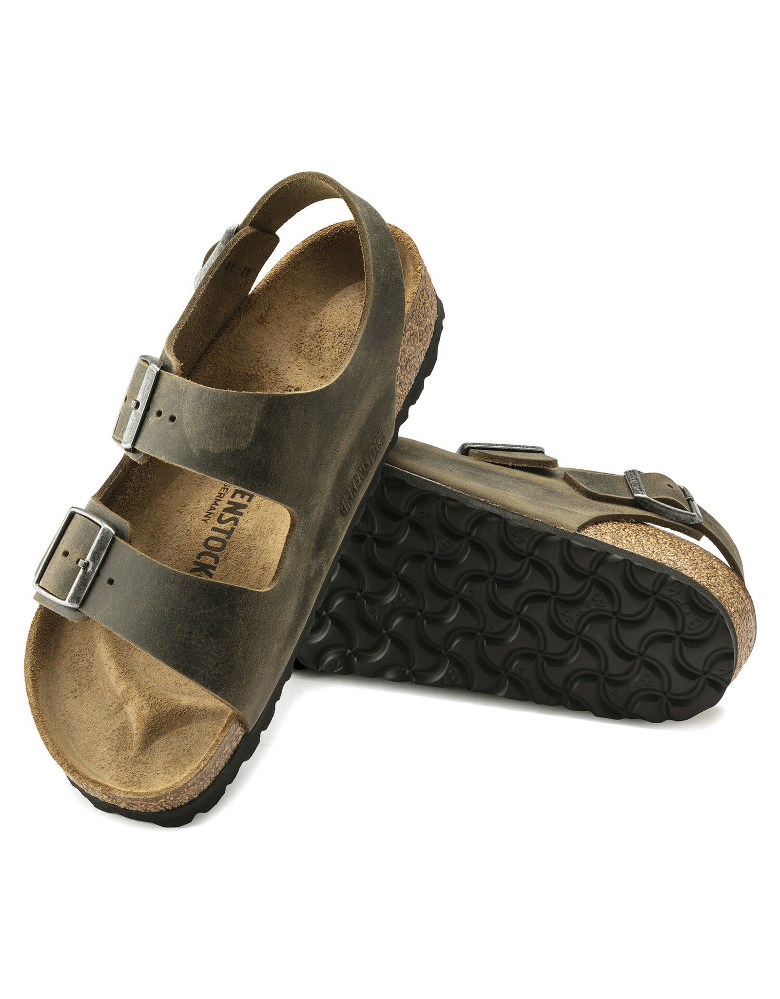 Birkenstock Milano Faded Khaki  Oil Leather